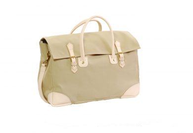 Bag in cotton canvas, natural vegetable tanned leather, solid brass fittings, www.mahiout.com, www.contractor48.com