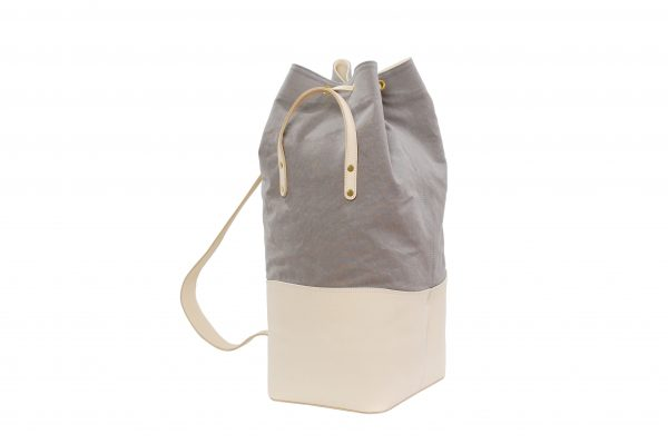 Mahiout bags, cotton canvas, natural tanned leahter, solid brass fittings