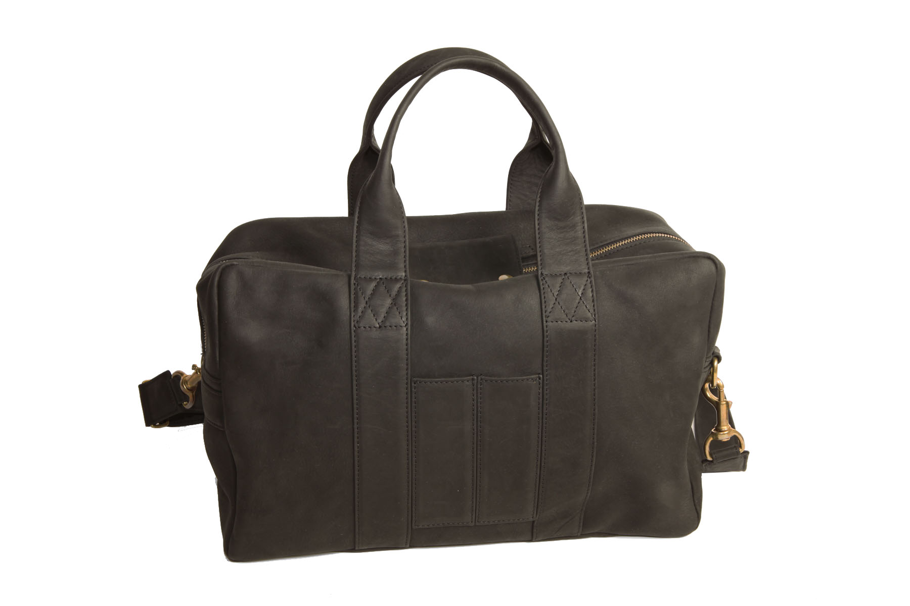 mahiout bag in black leahter and solid brass fittings. http//:www.mahiout.com, http://www.contractor48.com