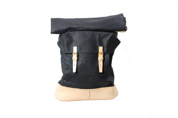 mahiout canton backpack in waxed cotton canvas, natural tanned leahter solid brass fittings, http://ww.mahiout.com, http://www.contractor48.com