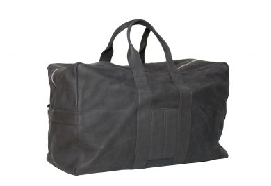 MAHIOUT, A.KIT TRAVEL BAG, BLACK NUBUCK BAG