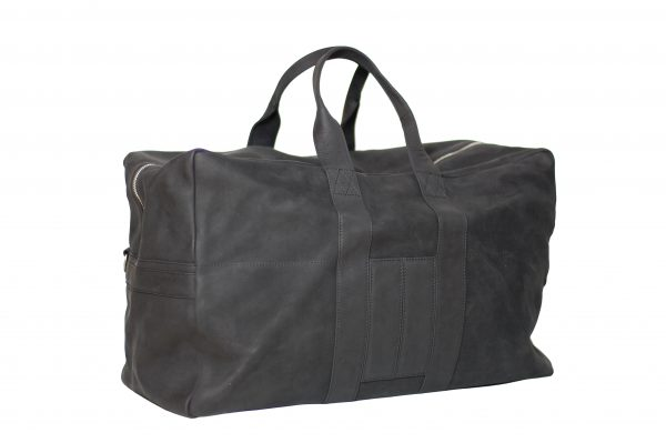 MAHIOUT, A.KIT TRAVEL BAG, BLACK NUBUCK BAG