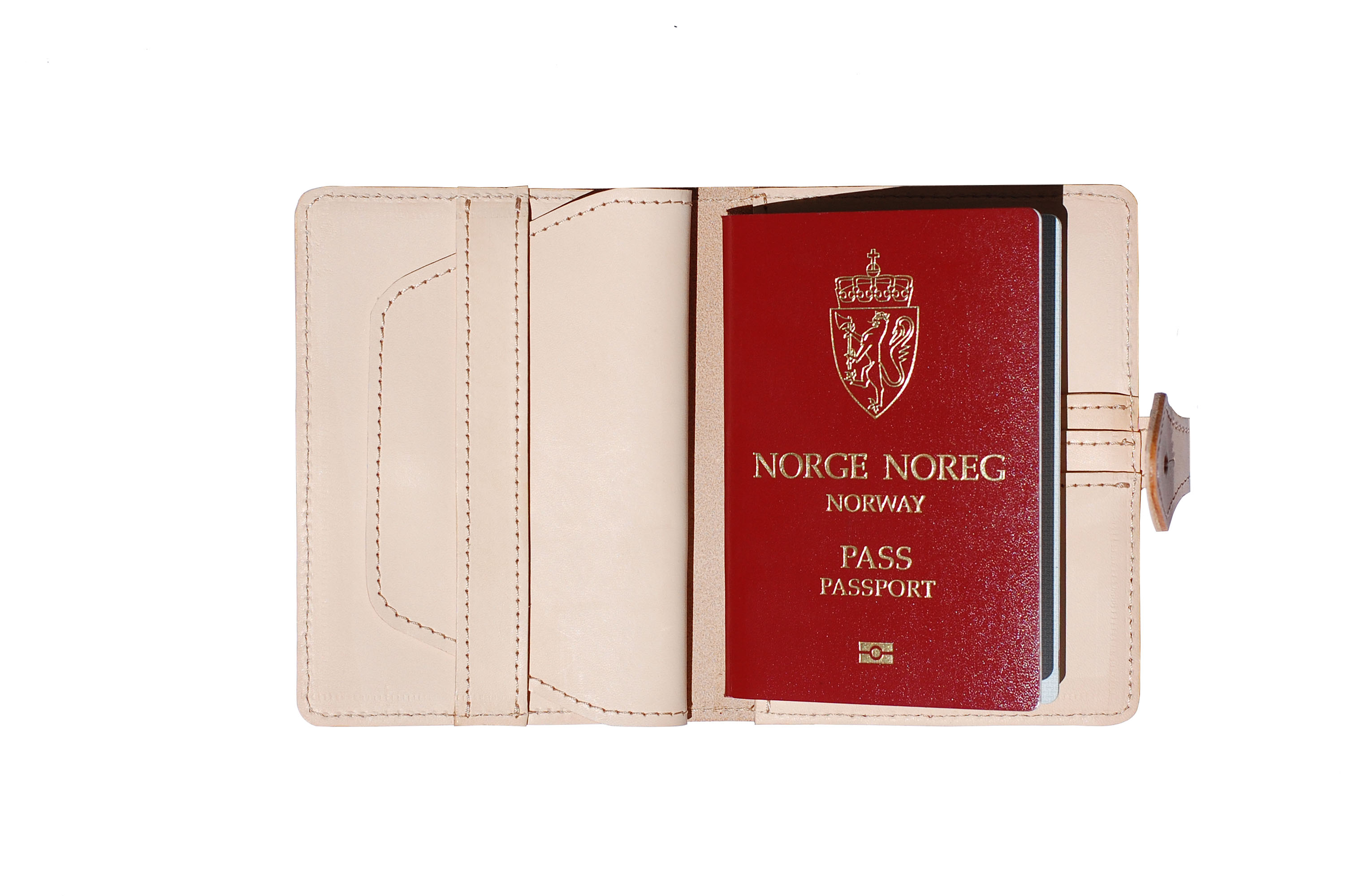 Mahiout, passport case, naturla leather