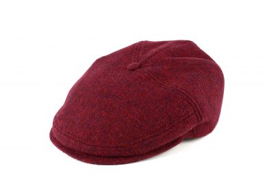 Fabriaction Locale Evander cold weather cap in harris tweed