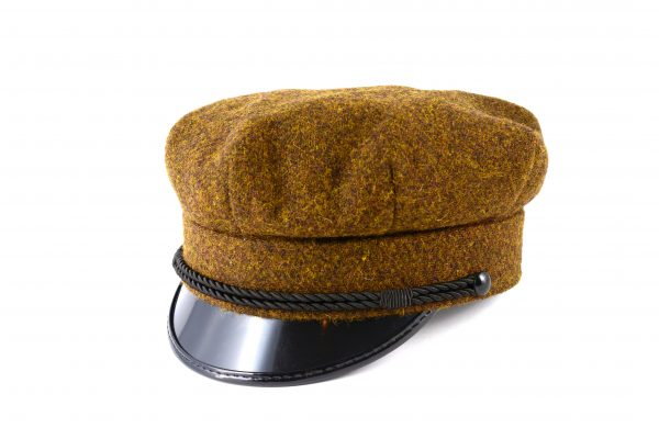 fabrication Locale Radoslaw cap in harris tweed