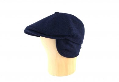 Fabrication Locale Evander cold weather flat cap in harris tweed