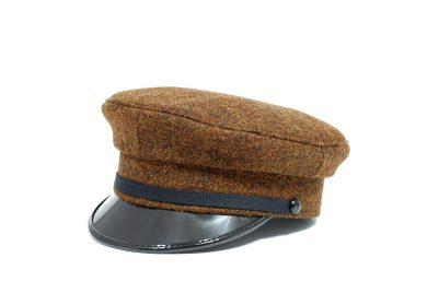 Fabrication Locale Hans cap in harris tweed contractor48