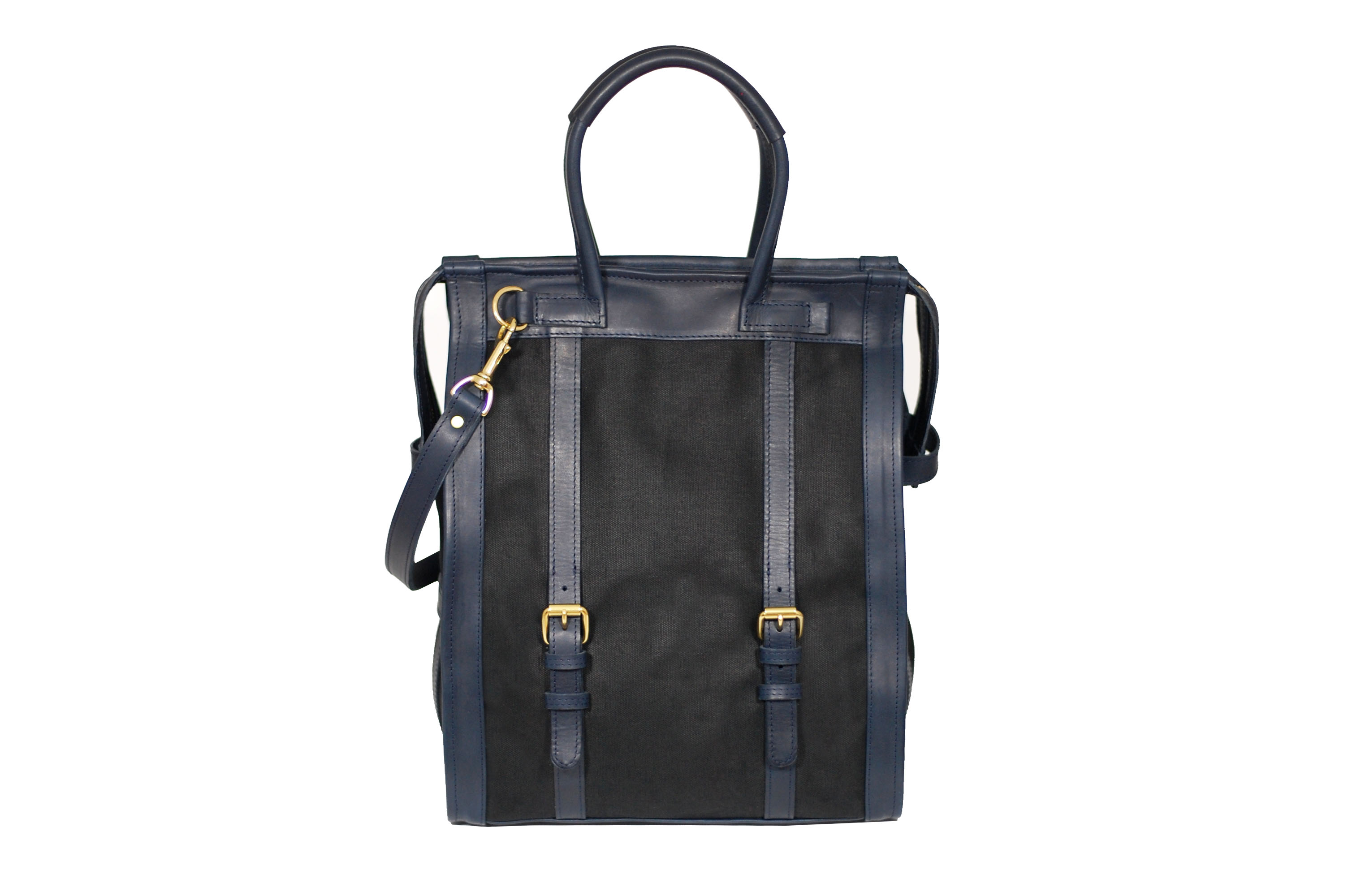 mahiout field companion bag in leather and oiled cotton