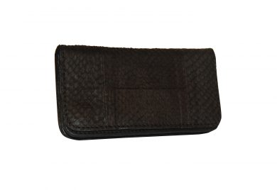 Mahiout eve biker wallet in salmon skin