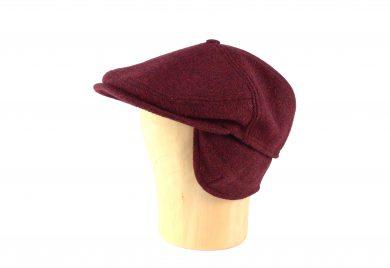 Fabrication Locale Evander cold weather flat cap in harris tweed