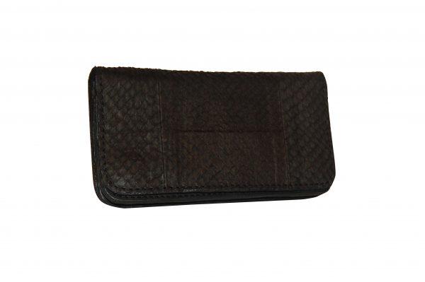 Mahiout eve biker wallet in salmon skin