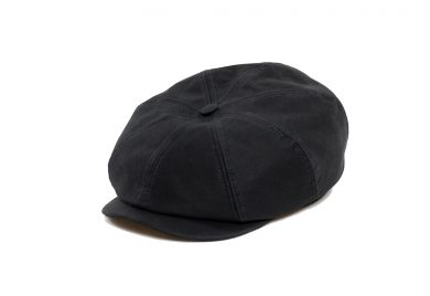 Fabrication Locale Cathal eight panel cap in french moleskin