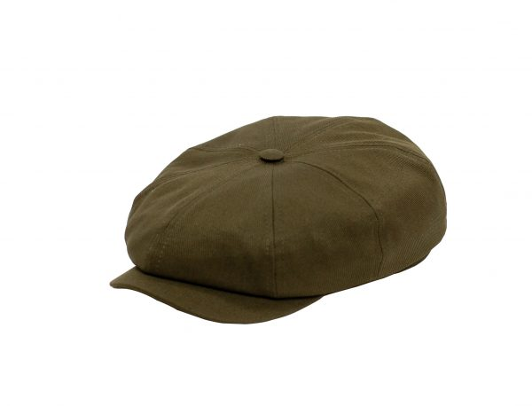 Fabrication Locale Cathal eight panel cap in calvary twill