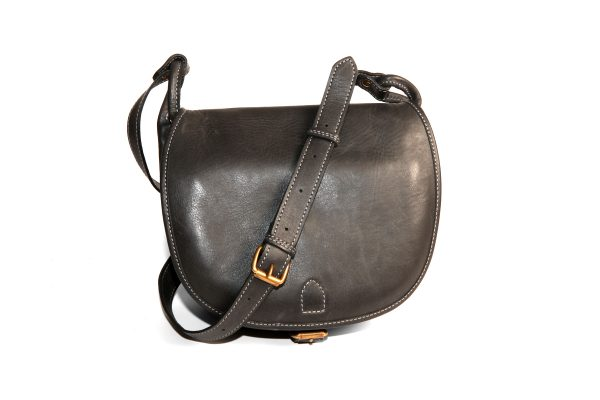 mahiout black powder bag in leather